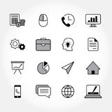 Modern business icons. Black business icons. Linear vector illustration Royalty Free Stock Photos