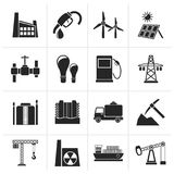 Black Business and industry icons. Vector icon set Royalty Free Stock Images