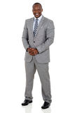 Black business man Royalty Free Stock Photo
