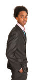 Black business man standing Royalty Free Stock Image
