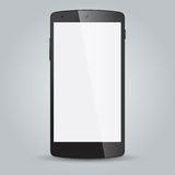 Black business mobile phone style  on white background Stock Photography