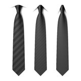 Black business neck ties Royalty Free Stock Images