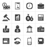 Black Business, Office and Finance Icons. Vector Icon Set Stock Images