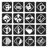 Black Business and Office Icons. Vector Icon Set Royalty Free Stock Photography