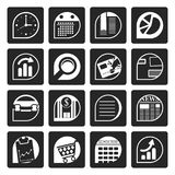 Black Business and Office  Internet Icons. Vector Icon Set Stock Images
