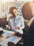 Black business people having a meeting Royalty Free Stock Photo