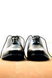 Black business shoes Stock Photos
