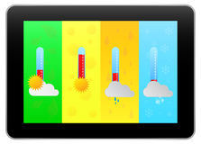 Black Business Tablet Indicate Weather Forecast Royalty Free Stock Photo