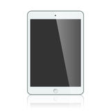 Black business tablet isolated on white background Royalty Free Stock Photography