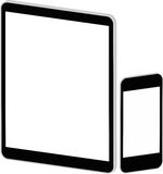 Black Business Tablet And Smart Phone. Isolated On White vector illustration