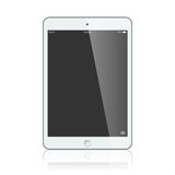 Black business tablet  on white background vector Royalty Free Stock Image
