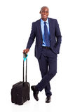 Black business traveller Royalty Free Stock Images
