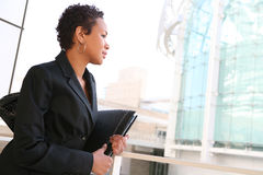 Black Business Woman Stock Photo