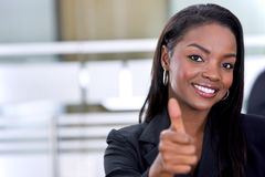 Black business woman Royalty Free Stock Images