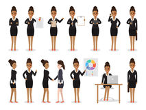 Black business woman characters Stock Image