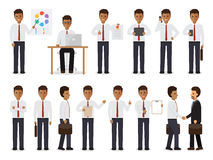Black businessman characters Stock Photography