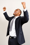Black businessman expression Stock Photography