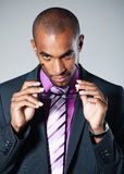 Black businessman with glasses Royalty Free Stock Photos
