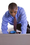 Black Businessman at His Desk Working Royalty Free Stock Photography