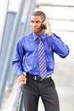 Black businessman on the phone Royalty Free Stock Photography
