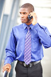 Black businessman on the phone Royalty Free Stock Photo