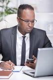 Black businessman Royalty Free Stock Photos