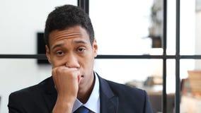 Black Businessman Sleeping at Work Stock Photo