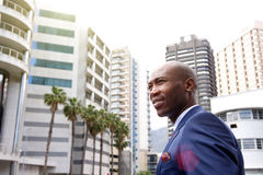 Black businessman standing in the city Stock Images