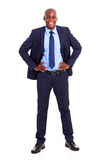 Black businessman suit Royalty Free Stock Image