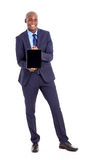 Black businessman tablet Stock Photo
