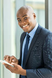 Black businessman tablet computer Stock Photo