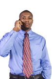 Black Businessman talking on a cell phone Royalty Free Stock Photography