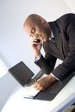 Black businessman at work royalty free stock images