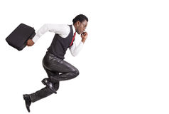 Black businessmen running Stock Images