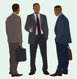 Black Businessmen Talking Stock Image