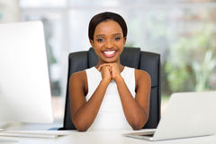 Black businesswoman office Royalty Free Stock Images