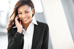 Free Black Businesswoman On The Phone Royalty Free Stock Image - 16180416