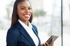 Black businesswoman tablet Royalty Free Stock Images