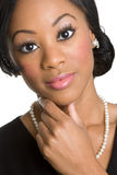 Black Businesswoman Thinking Royalty Free Stock Images
