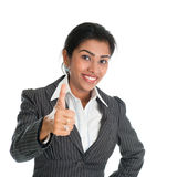 Black businesswoman thumb up Royalty Free Stock Photography