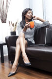 Black businesswomen on the phone Stock Photo