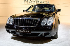Black bussines car Maybach 62S Stock Photo