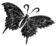 Black butterfly illustration Stock Image