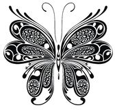Black butterfly. Tattoo design Stock Photos