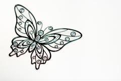 Black butterfly on white background. Wallpaper, pattern, texture. Black butterfly on white background. Wallpaper, pattern, texture royalty free stock image