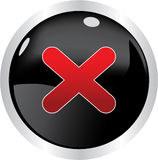 Black button Stock Image
