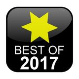 Black Button: Best of 2017. Isolated black Button: Best of 2017 Royalty Free Stock Photography