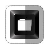 Black button file icon Stock Image