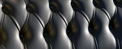 Black buttoned leather pattern Royalty Free Stock Photos