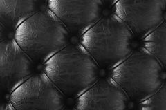 Black buttoned leather texture. Black leather background Royalty Free Stock Photography